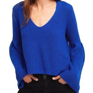 Free People Sweaters - NWT Free People Damsel Pullover Sweater Blue Large